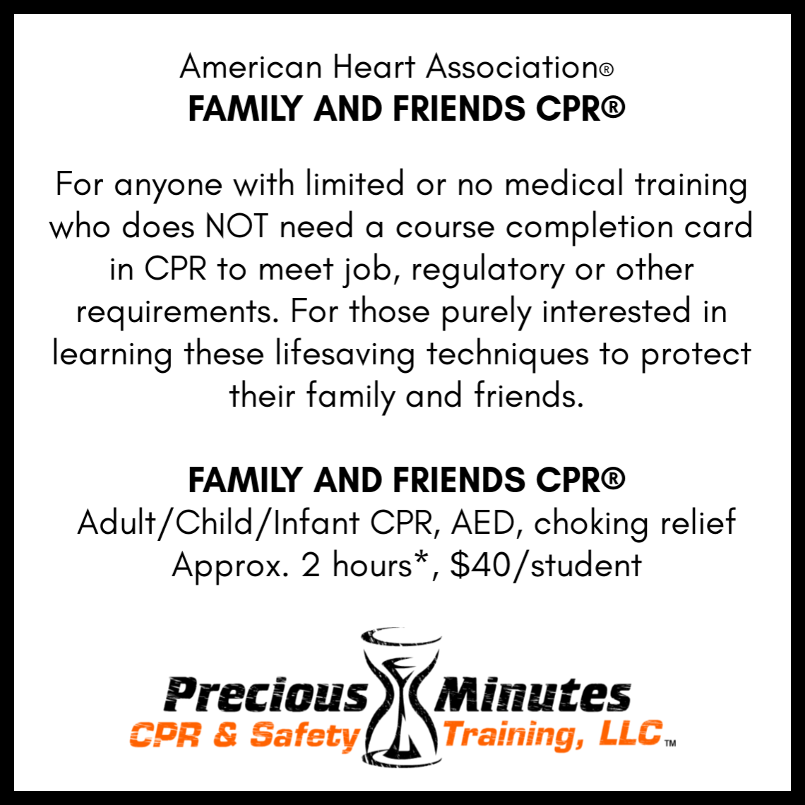 Cpraed First Aid Precious Minutes Cpr Safety Training